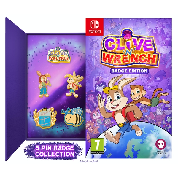 Image of Clive n Wrench Badge Collectors Edition
